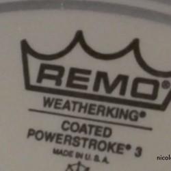 REMO Ambassador coated mit Dämpfring (unten) = Powerstroke 3
