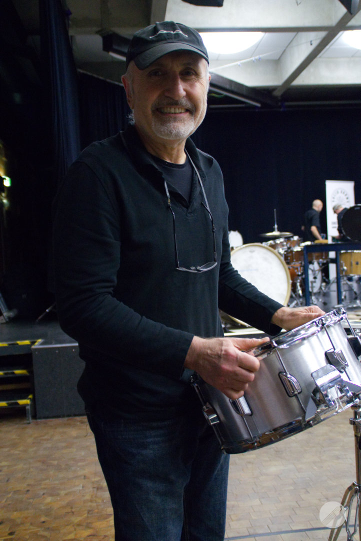 Willy with brand new aluminium snare by WAHAN