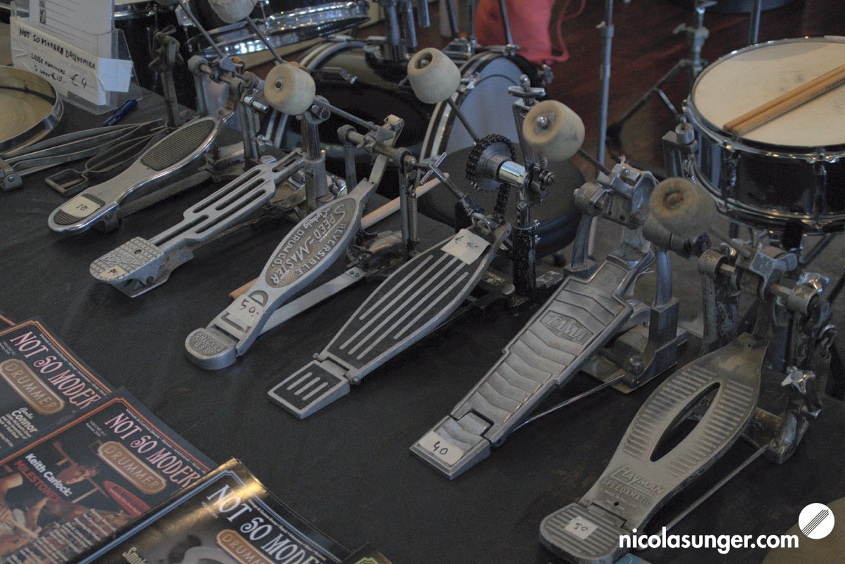 Vintage Bass Drum Pedals @ Vintage & Custom Drum Meeting 2018 in Walldorf-Mörfelden Germany