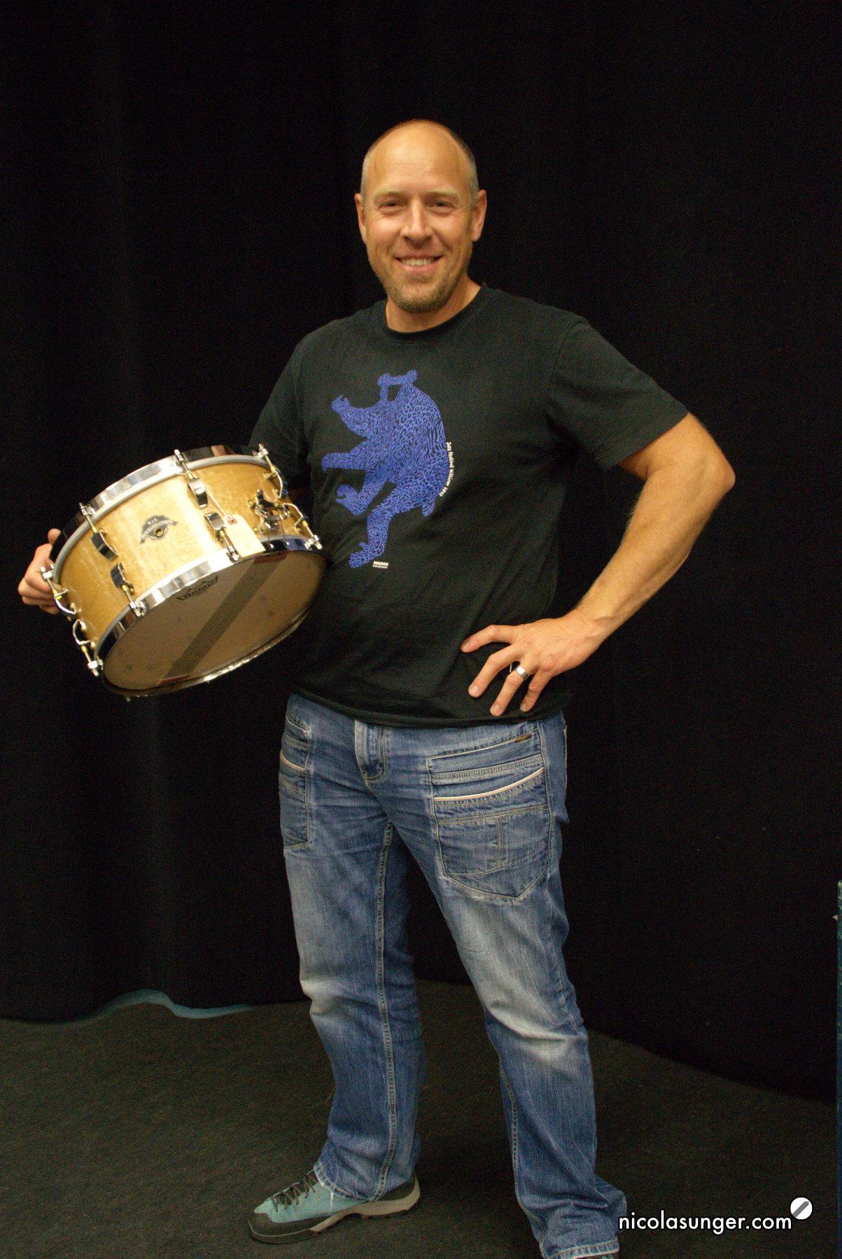 Stefan Wicki von W.J.E. Drum-Manufacturing