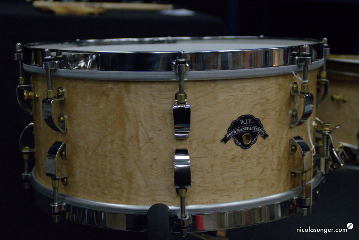 W.J.E Steam bent Birdseye-Maple Snare